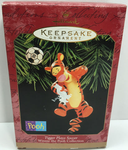 (TAS033091) - 1999 Hallmark Keepsake Ornament Tigger Plays Soccer Winnie Pooh, , Ornament, Hallmark, The Angry Spider Vintage Toys & Collectibles Store  - 1