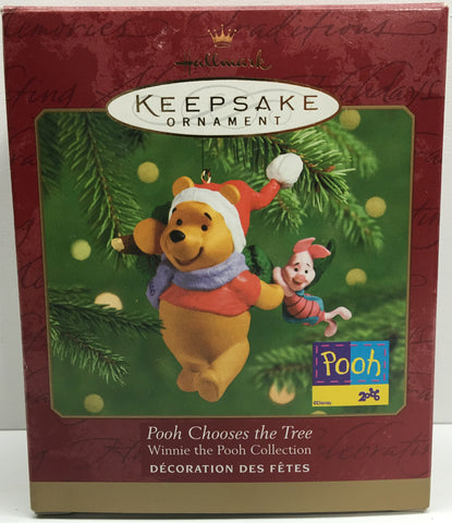 (TAS033093) - 2000 Hallmark Keepsake Ornament Winnie The Pooh Chooses The Tree, , Ornament, Hallmark, The Angry Spider Vintage Toys & Collectibles Store  - 1