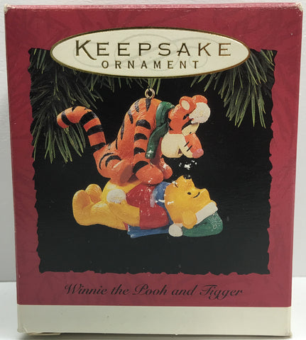 (TAS033094) - Hallmark Keepsake Ornament Holiday Winnie The Pooh and Tigger, , Ornament, Hallmark, The Angry Spider Vintage Toys & Collectibles Store  - 1