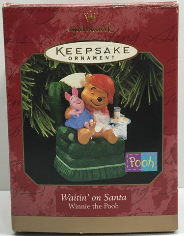 (TAS033095) - 1997 Hallmark Keepsake Ornament Winnie The Pooh Waitin' On Santa, , Ornament, Hallmark, The Angry Spider Vintage Toys & Collectibles Store  - 1