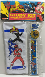 (TAS033102) - 1993 Noteworthy The Mighty Morphin Power Rangers Pencil Study Kit, , Study Kit, Power Rangers, The Angry Spider Vintage Toys & Collectibles Store  - 1