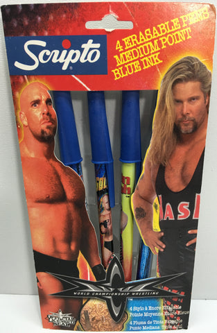 (TAS033103) - 1999 Scripto WCW WWE Wrestling Erasable Pens - Goldberg & Nash, , Pens, Wrestling, The Angry Spider Vintage Toys & Collectibles Store  - 1