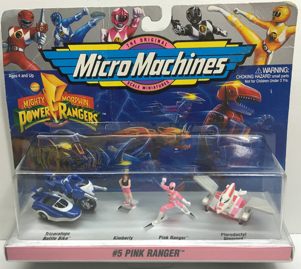 (TAS033104) - Galoob Mighty Morphin Power Rangers #5 Pink Ranger Micro Machines, , Action Figure, Power Rangers, The Angry Spider Vintage Toys & Collectibles Store  - 1