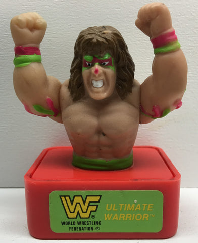 (TAS033106) - 1991 Titan Sports WWF WWE Wrestling Ink Stamper - Ultimate Warrior, , Stamper, Wrestling, The Angry Spider Vintage Toys & Collectibles Store  - 1