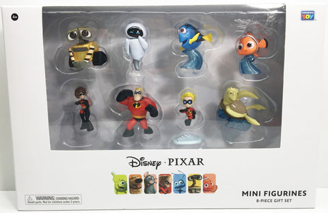 (TAS033107) - 2015 Thinkway Toys Disney Pixar Mini Figurines 8-Piece Gift Set, , Action Figure, Disney, The Angry Spider Vintage Toys & Collectibles Store  - 1