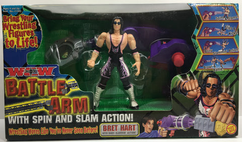 (TAS033137) - 2000 Toy Biz WCW WWE WWF Wrestling Battle Arm Toy - Bret Hart, , Action Figure, Wrestling, The Angry Spider Vintage Toys & Collectibles Store  - 1