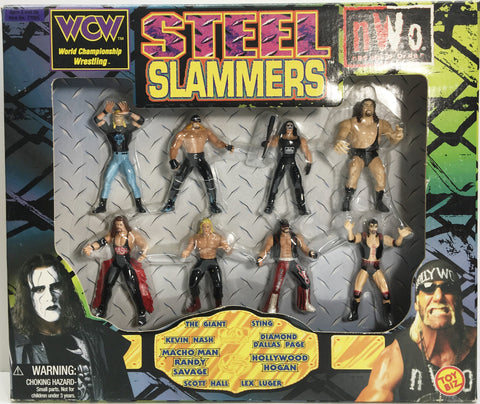 (TAS033138) - 1998 Toy Biz WCW nWo Steel Slammers Die-Cast Wrestling Set, , Action Figure, Wrestling, The Angry Spider Vintage Toys & Collectibles Store  - 1