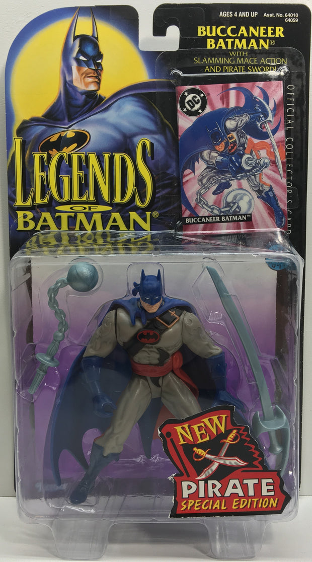 (TAS033142) - 1995 Kenner Legends Of Batman - Buccaneer Batman Action Figure, , Action Figure, Batman, The Angry Spider Vintage Toys & Collectibles Store  - 1