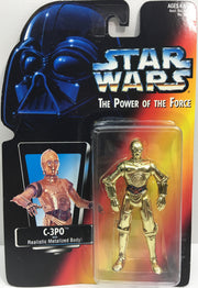(TAS033171) - 1995 Kenner Star Wars The Power Of The Force - C-3PO Action Figure, , Action Figure, Star Wars, The Angry Spider Vintage Toys & Collectibles Store  - 1