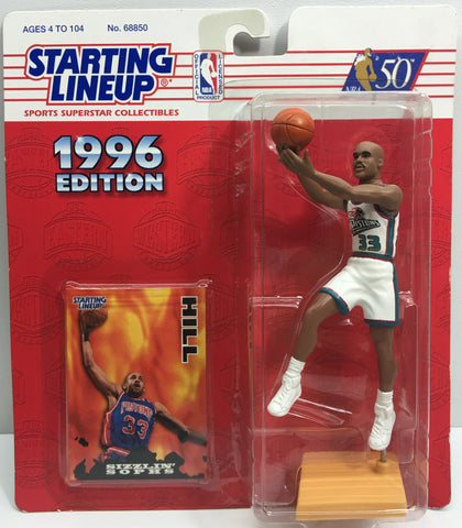 (TAS033172) - 1996 Kenner Starting Lineup NBA SuperStar Collectibles Grant Hill, , Action Figure, NBA, The Angry Spider Vintage Toys & Collectibles Store  - 1