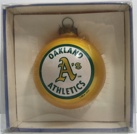(TAS033178) - 1990 Topperscot MLB Holiday Christmas Ornament - Oakland Athletics, , Ornament, MLB, The Angry Spider Vintage Toys & Collectibles Store  - 1