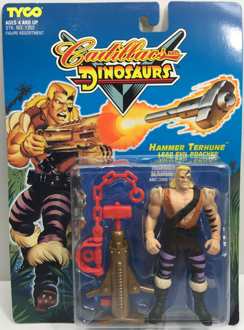 (TAS033179) - 1993 Tyco Cadillacs And Dinosaurs - Hammer Terhune Evil Poacher, , Action Figure, Tyco, The Angry Spider Vintage Toys & Collectibles Store  - 1