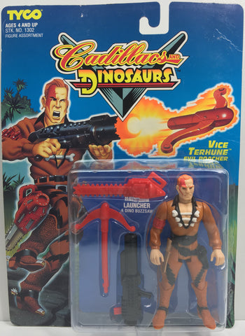 (TAS033190) - 1993 Tyco Cadillacs And Dinosaurs Vice Terhune Evil Poacher Figure, , Action Figure, Tyco, The Angry Spider Vintage Toys & Collectibles Store  - 1