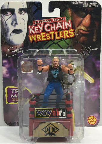 (TAS033191) - 1998 Toy Biz WCW WWE Electronic Talking Keychain Wrestlers - DDP, , Keychain, Wrestling, The Angry Spider Vintage Toys & Collectibles Store  - 1