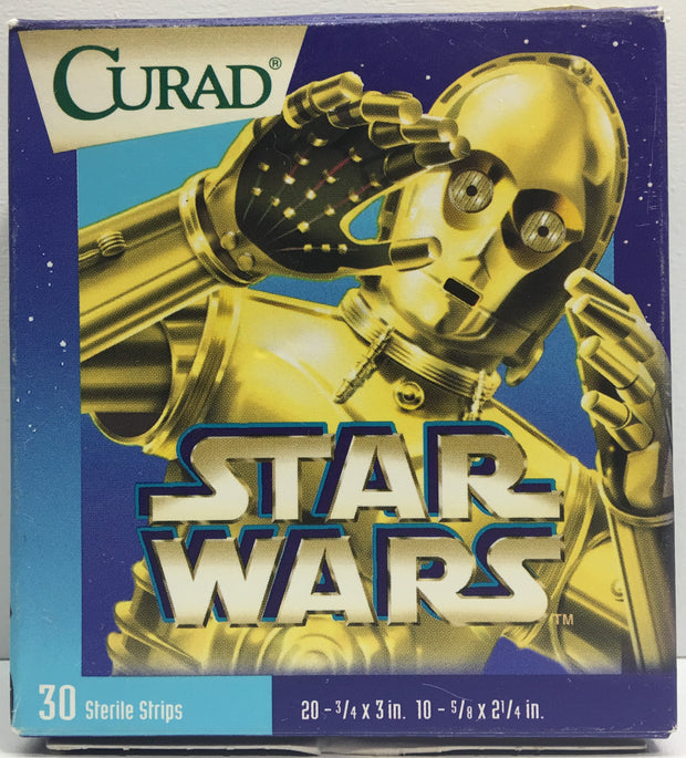 (TAS033276) - 1998 Curad Star Wars Lucasfilm Bandages - 30 Sterile Strips C-3PO, , Action Figure, Star Wars, The Angry Spider Vintage Toys & Collectibles Store  - 1