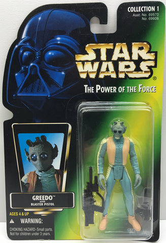 (TAS033296) - 1996 Hasbro Star Wars The Power Of The Force Greedo Action Figure, , Action Figure, Star Wars, The Angry Spider Vintage Toys & Collectibles Store  - 1