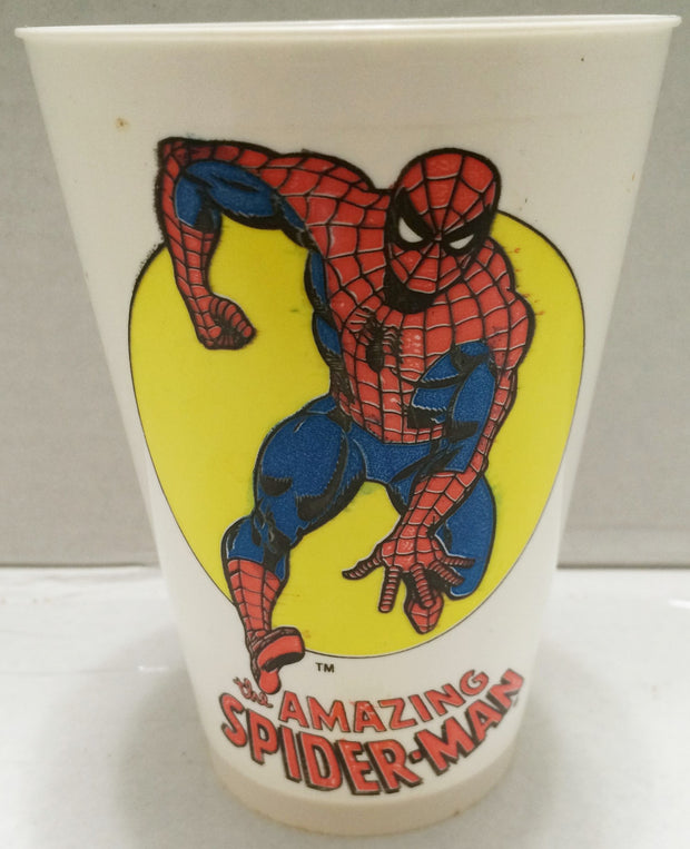 (TAS033304) - 1975 Marvel Comics 7 Eleven Plastic The Amazing Spider-Man Cup, , Drinkware, Marvel, The Angry Spider Vintage Toys & Collectibles Store  - 1