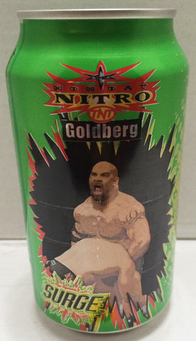(TAS033308) - 1999 Surge WCW Monday Nitro TNT Wrestling Soda Can / Bank Goldberg, , Coin Bank, Wrestling, The Angry Spider Vintage Toys & Collectibles Store  - 1