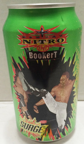 (TAS033310) - 1999 Surge WCW Monday Nitro TNT Wrestling Soda Can / Bank Booker T, , Coin Bank, Wrestling, The Angry Spider Vintage Toys & Collectibles Store  - 1