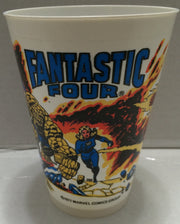(TAS033317) - 1977 Marvel Comics 7 Eleven Plastic Fantastic Four Human Torch Cup, , Drinkware, Marvel, The Angry Spider Vintage Toys & Collectibles Store  - 1