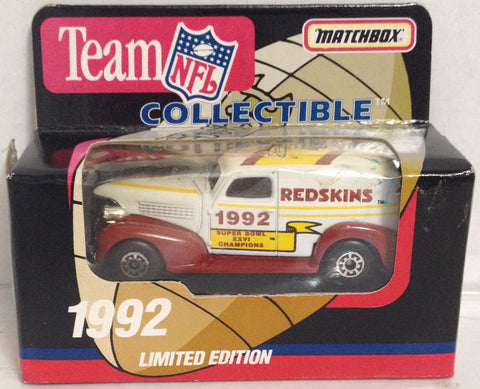 (TAS033385) - 1992 Matchbox Die-Cast Replica Team NFL Washington Redskins XXVI, , Trucks & Cars, Matchbox, The Angry Spider Vintage Toys & Collectibles Store  - 1