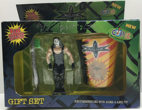 (TAS033408) - 1999 MAS Brands WCW Wrestling Cup-It Gift Set Sting Toothbrush Cup, , Bath, Wrestling, The Angry Spider Vintage Toys & Collectibles Store  - 1