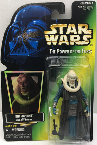 (TAS033410) - 1996 Hasbro Star Wars The Power Of The Force Bib Fortuna & Blaster, , Action Figure, Star Wars, The Angry Spider Vintage Toys & Collectibles Store  - 1