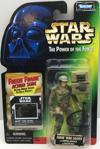 (TAS033411) - 1997 Hasbro Star Wars The Power Of The Force Endor Rebel Soldier, , Action Figure, Star Wars, The Angry Spider Vintage Toys & Collectibles Store  - 1