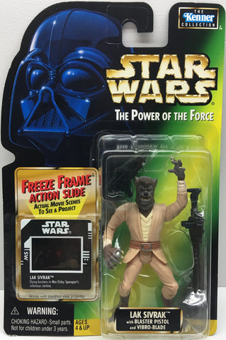 (TAS033412) - 1997 Hasbro Star Wars The Power Of The Force Lak Sivrak & Blaster, , Action Figure, Star Wars, The Angry Spider Vintage Toys & Collectibles Store  - 1