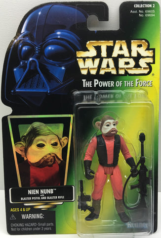 (TAS033414) - 1997 Hasbro Star Wars The Power Of The Force Nien Nunb & Blaster, , Action Figure, Star Wars, The Angry Spider Vintage Toys & Collectibles Store  - 1