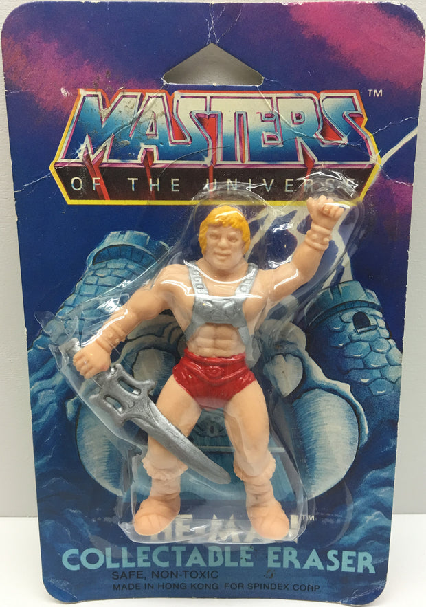 (TAS033417) - 1984 Mattel Masters Of The Universe Collectable Eraser He-Man, , Eraser, Mattel, The Angry Spider Vintage Toys & Collectibles Store  - 1