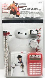 (TAS033419) - 2015 Disney Big Hero 6 7 Piece Fun Calculator & Pencil Set Baymax, , Study Kit, Disney, The Angry Spider Vintage Toys & Collectibles Store  - 1