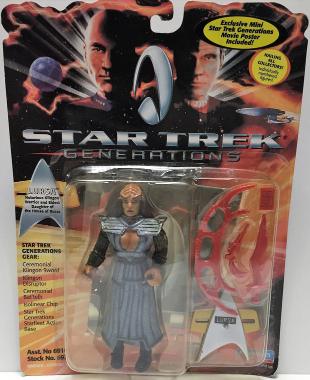 (TAS033437) - 1994 Playmates Star Trek Generations Lursa, , Action Figure, Star Trek, The Angry Spider Vintage Toys & Collectibles Store  - 1