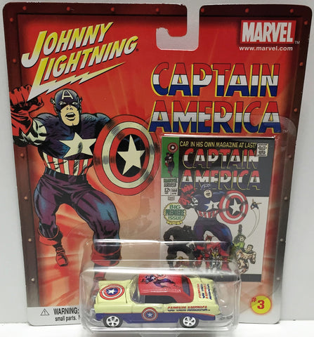 (TAS033467) - 2002 Johnny Lightning Marvel Captain America Die-Cast #3 '56 Chevy, , Trucks & Cars, Johnny Lightning, The Angry Spider Vintage Toys & Collectibles Store  - 1
