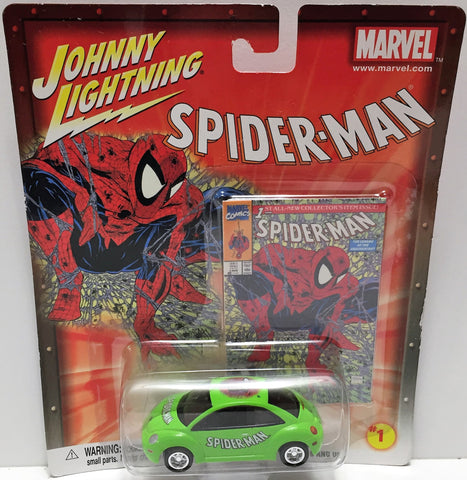 (TAS033468) - 2002 Johnny Lightning Marvel Spider-Man Die-Cast #1 '98 VW Beetle, , Trucks & Cars, Johnny Lightning, The Angry Spider Vintage Toys & Collectibles Store  - 1