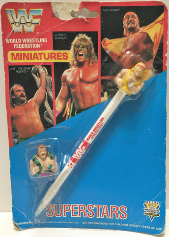 (TAS033486) - 1991 Titan Sports WWF SuperStars Miniatures Pen Ultimate Warrior, , Pens, Wrestling, The Angry Spider Vintage Toys & Collectibles Store  - 1