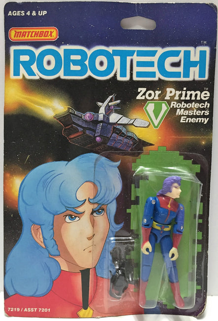 (TAS033502) - 1985 Matchbox RoboTech RoboTech Masters Enemy Zor Prime, , Action Figure, Matchbox, The Angry Spider Vintage Toys & Collectibles Store  - 1