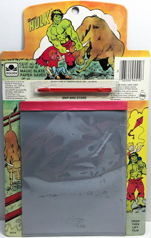 (TAS033505) - 1983 Golden Marvel The Incredible Hulk Magic Slate Paper Saver, , Other, Golden, The Angry Spider Vintage Toys & Collectibles Store  - 1