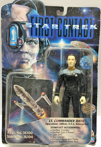 (TAS033522) - 1996 Playmates Star Trek First Contact Figure LT. Commander Data, , Action Figure, Star Trek, The Angry Spider Vintage Toys & Collectibles Store  - 1