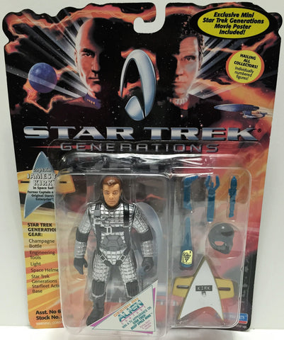 (TAS033535) - 1994 Playmates Star Trek Generations Action Figure James T. Kirk, , Action Figure, Star Trek, The Angry Spider Vintage Toys & Collectibles Store  - 1