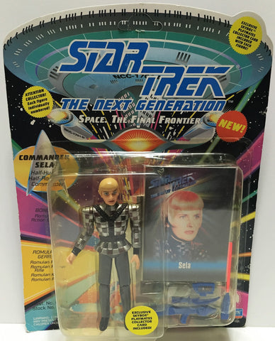 (TAS033538) - 1993 Playmates Star Trek The Next Generation Commander Sela, , Action Figure, Star Trek, The Angry Spider Vintage Toys & Collectibles Store  - 1