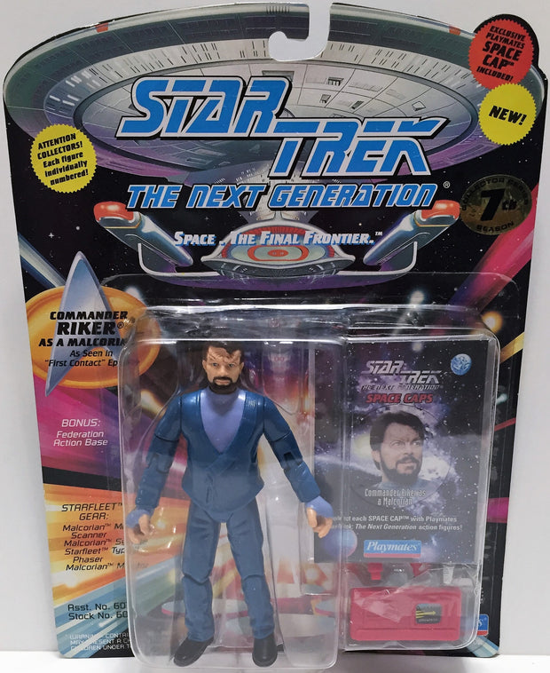 (TAS033545) - 1994 Playmates Star Trek The Next Generation Commander Riker, , Action Figure, Star Trek, The Angry Spider Vintage Toys & Collectibles Store  - 1