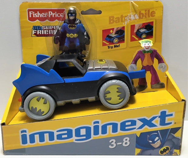 (TAS033587) - 2008 Mattel Fisher Price DC Super Friends Imaginext - Batmobile, , Trucks & Cars, Mattel, The Angry Spider Vintage Toys & Collectibles Store  - 1