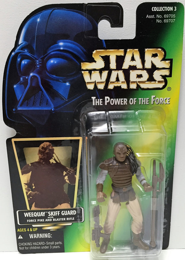 (TAS033600) - 1996 Hasbro Star Wars The Power of the Force Weequay Skiff Guard, , Action Figure, Star Wars, The Angry Spider Vintage Toys & Collectibles Store  - 1