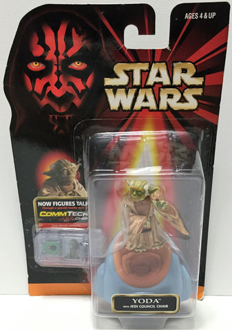 (TAS033611) - 1998 Hasbro Star Wars Episode I Figure - Yoda w/ CommTech Chip, , Action Figure, Star Wars, The Angry Spider Vintage Toys & Collectibles Store  - 1