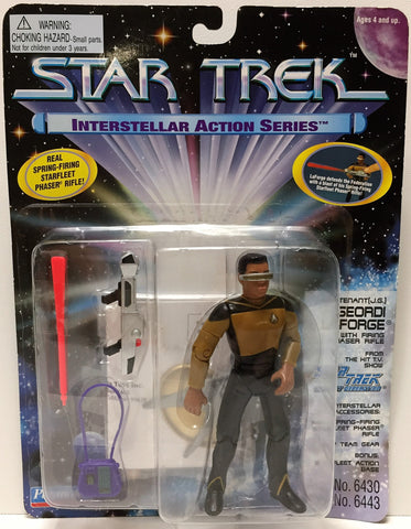 (TAS033613) - 1995 Playmates Star Trek The Next Generation - Geordi Laforge, , Action Figure, Star Trek, The Angry Spider Vintage Toys & Collectibles Store  - 1