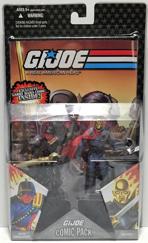 (TAS033619) - 2008 Hasbro G.I. Joe Figure Iron Grenadier & Destro, , Action Figure, G.I. Joe, The Angry Spider Vintage Toys & Collectibles Store  - 1