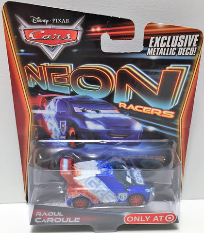 (TAS033625) - 2013 Mattel Disney Cars Neon Racer - Raoul Caroule, , Trucks & Cars, Disney, The Angry Spider Vintage Toys & Collectibles Store  - 1