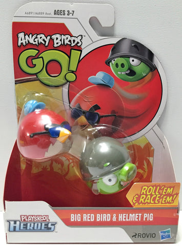 (TAS033680) - 2013 Rovio Angry Birds Go! Action Toys - Big Red Bird & Helmet Pig, , Action Figure, Angry Birds, The Angry Spider Vintage Toys & Collectibles Store  - 1
