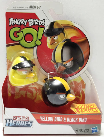 (TAS033681) - 2013 Rovio Angry Birds Go! Action Toys - Yellow Bird & Black Bird, , Action Figure, Angry Birds, The Angry Spider Vintage Toys & Collectibles Store  - 1